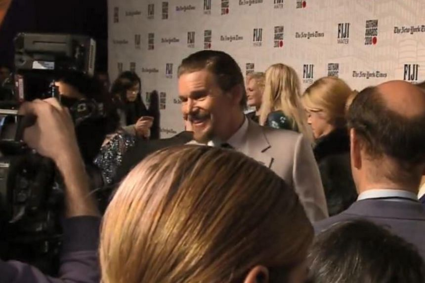 Ethan Hawke, who was named Best Actor for his role in First Reformed, at the red carpet ceremony of the 28th annual IFP Gotham Awards on Nov 26, 2018.