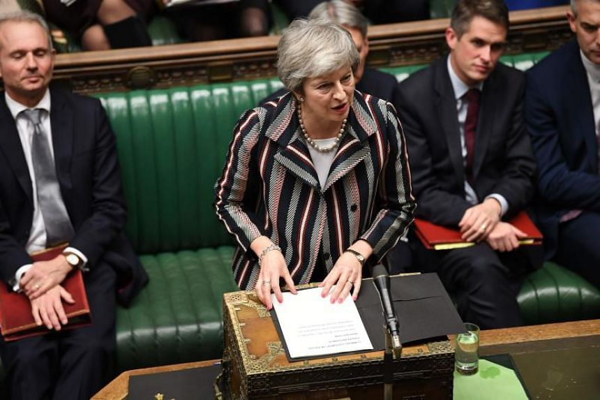 Britain's Prime Minister Theresa May giving a statement to the House of Commons in London on Nov 26, 2018.