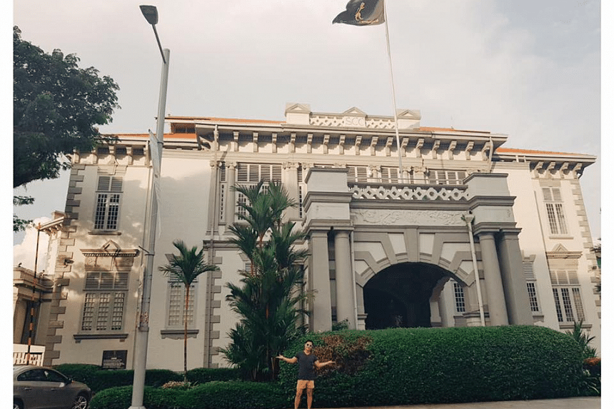 Mr Bloodworth outside the Singapore Cricket Club, which he criticised for not stating its policies more explicitly.