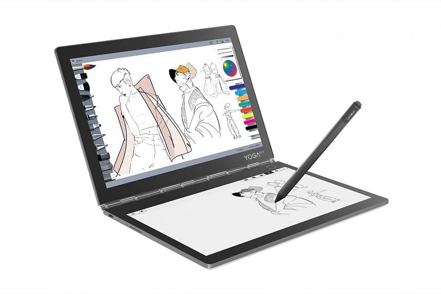 The Yoga Book C930 comes with an E Ink screen and a high-resolution touchscreen.