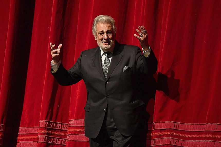 Among the gifts the Metropolitan Opera House presented Placido Domingo with is a slab of flooring from its stage.