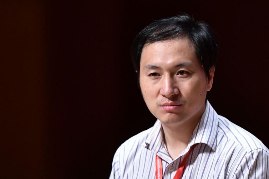 Chinese scientist He Jiankui at a summit on human gene editing in Hong Kong on Nov 28, 2018. Dr He said that the study had been submitted to a journal for review.