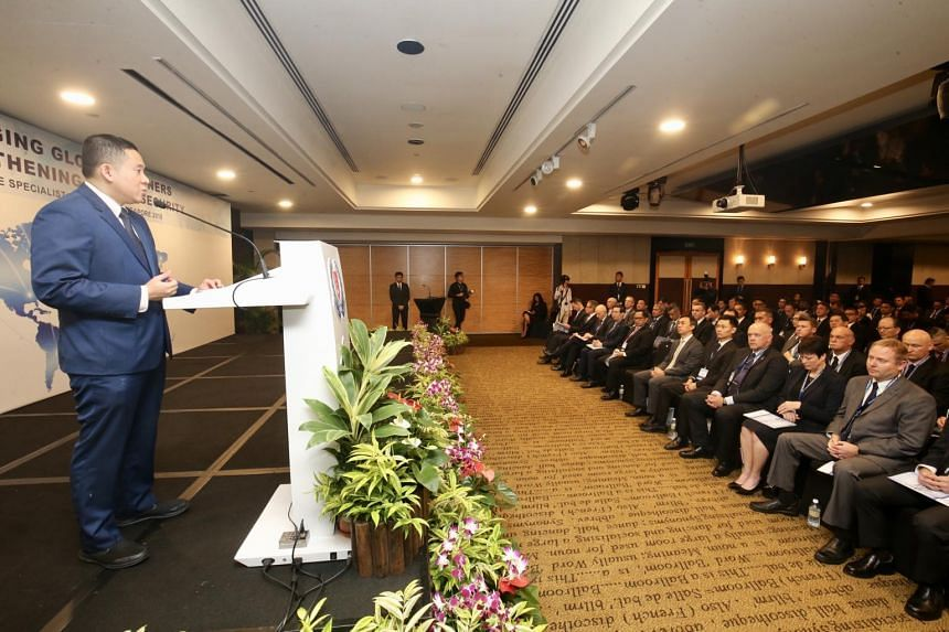 The inaugural Police Specialist Conference Singapore was launched by Senior Parliamentary Secretary for Home Affairs and Health Amrin Amin on Nov 28.