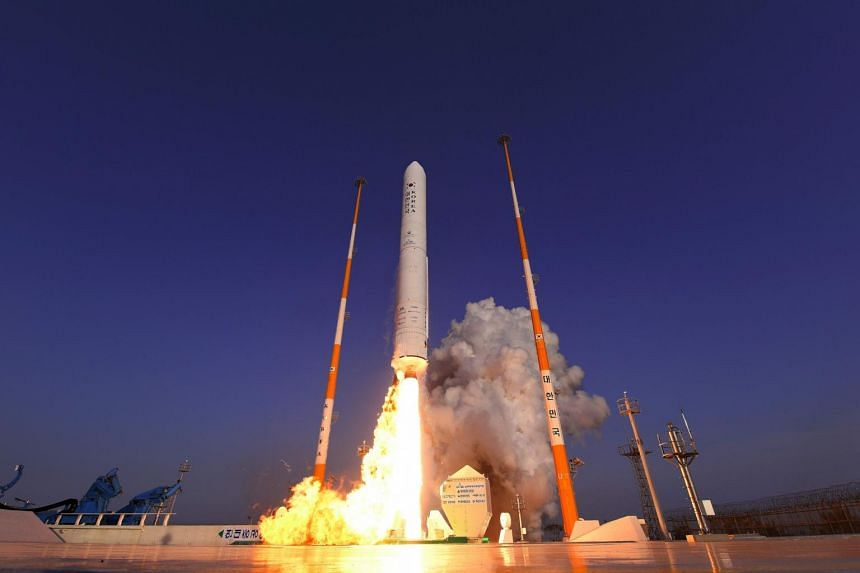 The KSLV-2 rocket, which will be South Korea's first space vehicle wholly designed and built by itself, will be used to place satellites into the Earth's orbit and for other commercial applications.