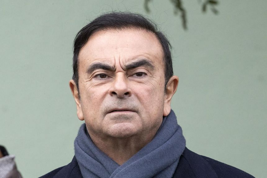 Nissan Chairman Carlos Ghosn at the Renault factory in Maubeuge, France, on Nov 8, 2018.