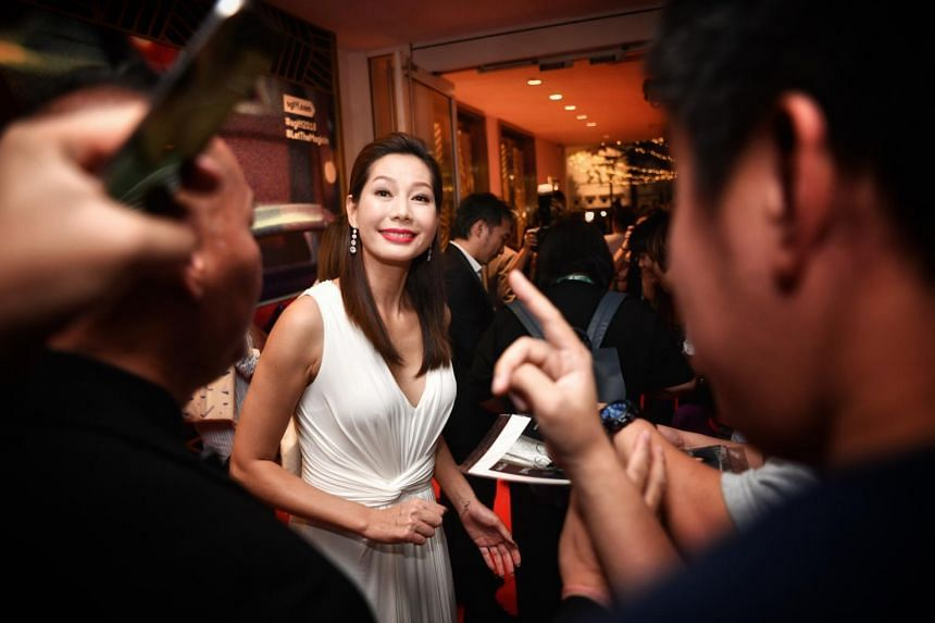 Taiwanese actress Ding Ning at the opening of the Singapore International Film Festival, held at Capitol Theatre on Nov 28, 2018.