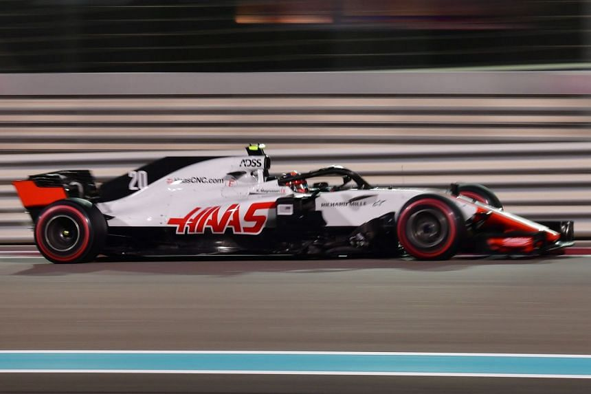 Haas F1's Danish driver Kevin Magnussen competes during the Abu Dhabi Formula One Grand Prix at the Yas Marina circuit, in Abu Dhabi on Nov 25, 2018.