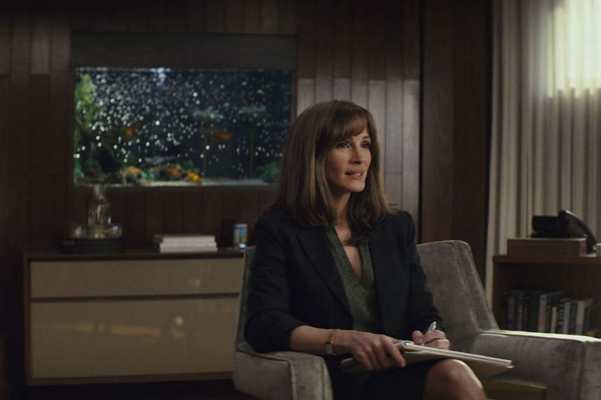 Julia Roberts plays a therapist helping army veterans reintegrate into civilian life in new Amazon series Homecoming.