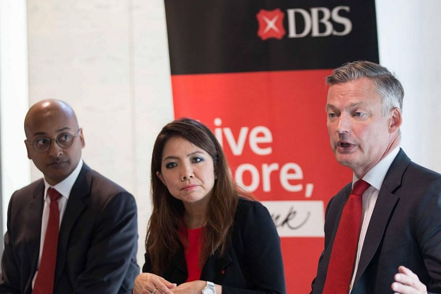 (From left) Mr Vivek Panavelil Chandy, Executive Director, DBS Bank Ltd, DIFC Branch; Ms Tan Su Shan, Group Head, Consumer Banking and Wealth Management, DBS Bank; and Mr Rudiger von Wedel, Head of International, DBS Private Bank, share DBS' five-y
