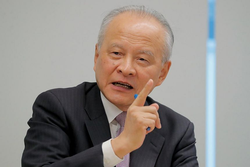 China's ambassador to the United States Cui Tiankai recalled the tariff wars of the 1930s, which contributed to a collapse of global trade and the Great Depression.