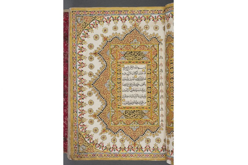 A 19th-century Quran from Terengganu in the Malay Peninsula in the Islamic Art gallery.