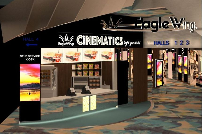 EagleWings Cinematics, located at King Albert Park Residences Mall, will feature two halls with premium seats and two halls with standard seats.
