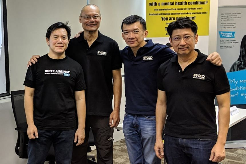 (From left) Mr Chew Sutat, Mr Khoo Swee Chiow, Mr Yeo Siak Ling and Mr Uantchern Loh at the launch of #Yolo2020 on Nov 28.