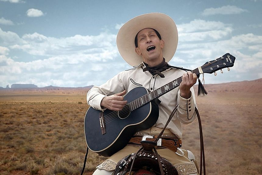 Tim Blake Nelson is a singing outlaw and the fastest gun in the West in The Ballad Of Buster Scruggs.