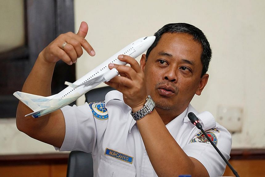 Parts of an engine of the Lion Air Flight JT610 recovered from the sea during search operations in the Java Sea on Nov 3. Flight recorder data showed that the plane's nose was forced down by an automated anti-stall system meant to protect the plane