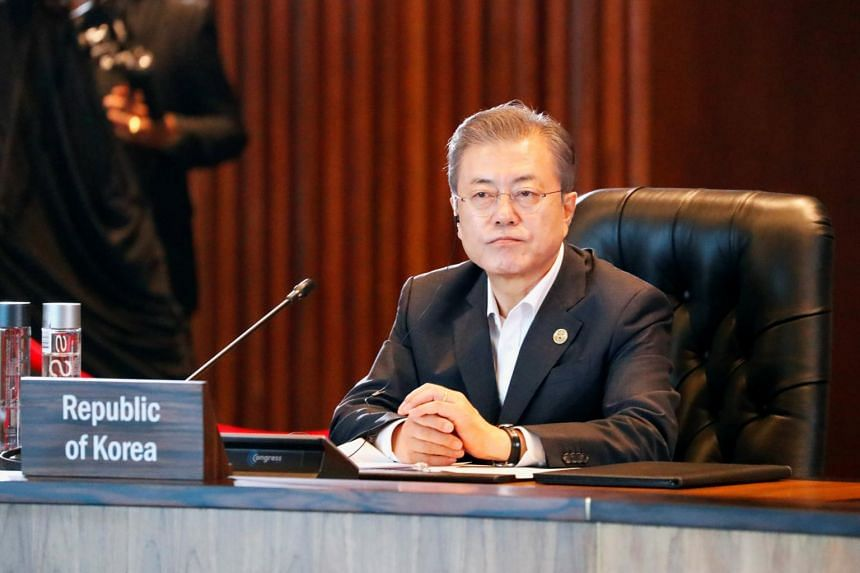 The sharp drop in South Korean President Moon Jae-in's popularity reflected public discontent over economic struggles and concern over the speed of his reconciliation drive with Pyongyang.