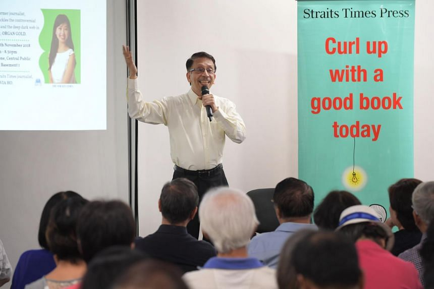 Author Raju Chellam discussed his novel, Organ Gold, at the ninth edition of The Straits Times Book Club on Nov 28.