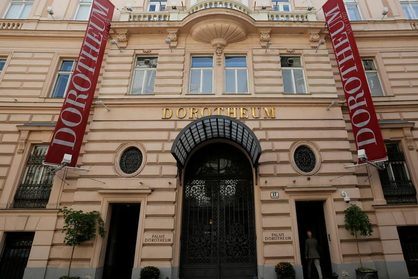 A file photo of the Dorotheum auction house in Vienna where a Pierre-Auguste Renoir painting was stolen.
