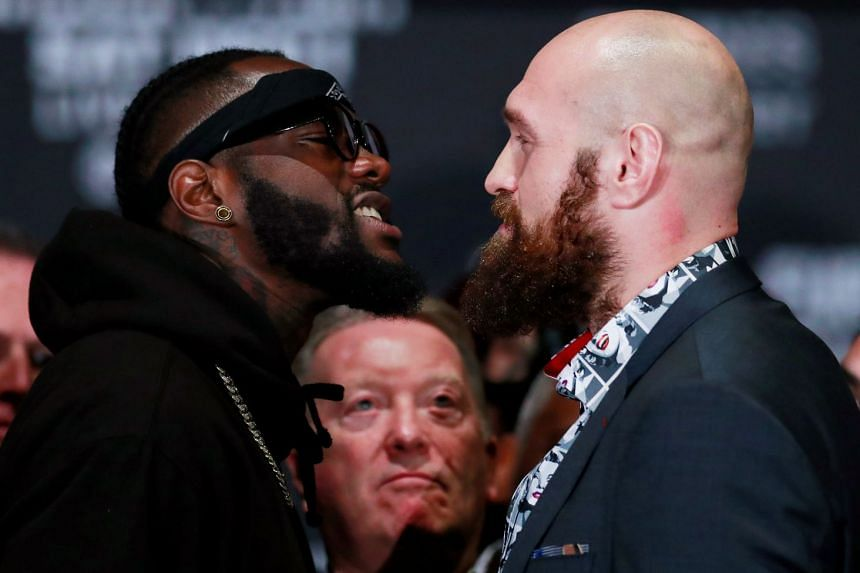 Deontay Wilder and Tyson Fury engaged in an angry face-off that threatened to erupt into a full-scale brawl during a press conference on Nov 28, 2018.