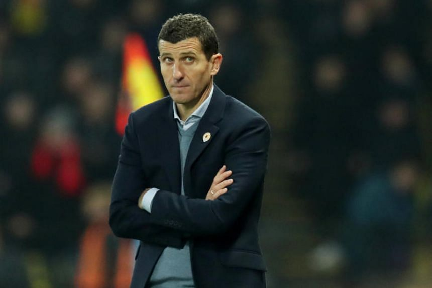 atford manager Javi Gracia at the match between Watford and Liverpool at Vicarage Road, Watford, Britain, on Nov 24, 2018.