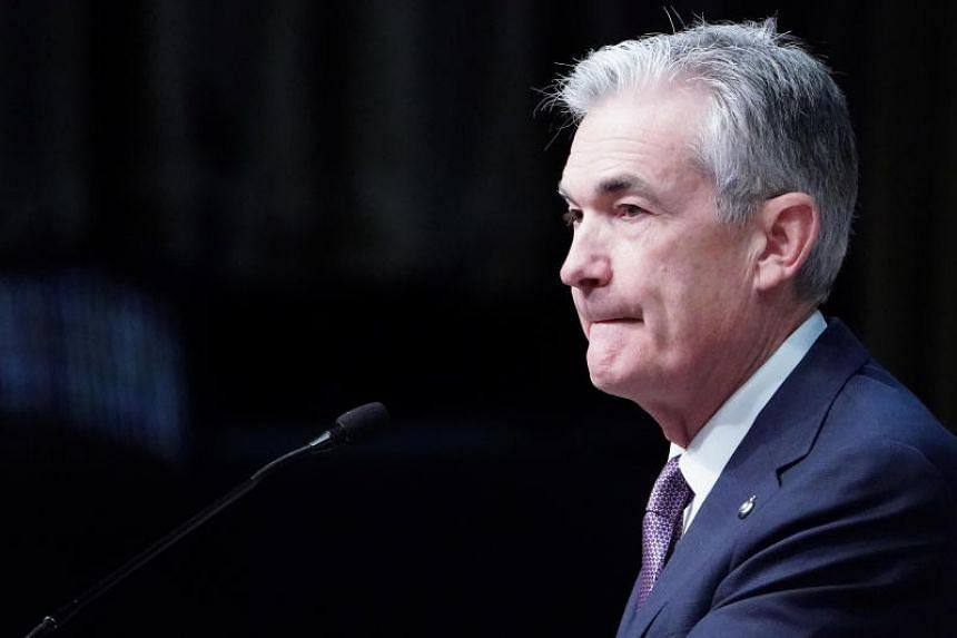 Federal Reserve Chairman Jerome Powell speaks at the Economic Club of New York's luncheon in the Manhattan borough of New York City, New York, US, on Nov 28, 2018.