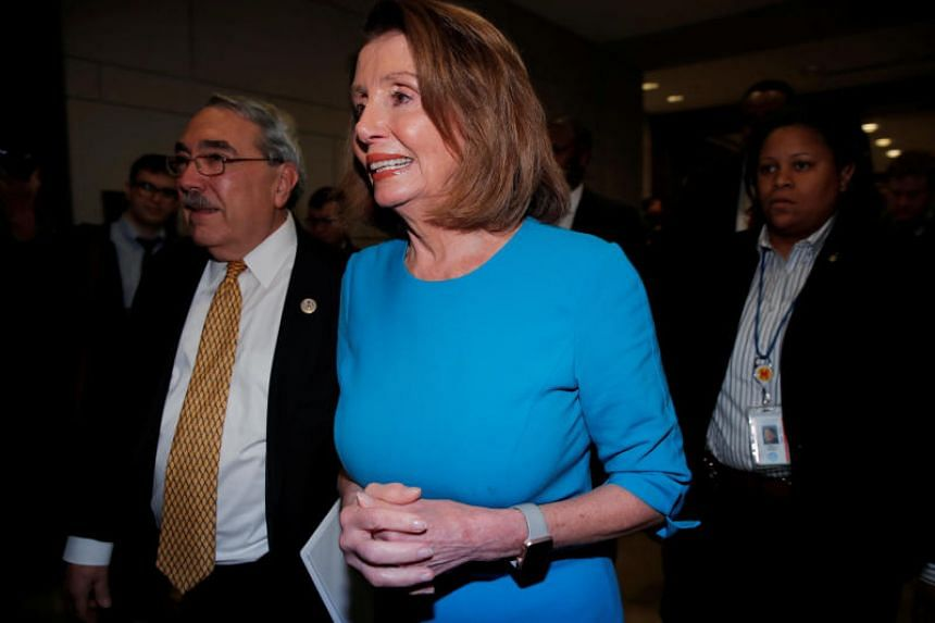 US House Minority Leader Nancy Pelosi arrives for a closed organisational meeting of the House Democrats to elect leaders for the 116th Congress at the US Capitol in Washington, US, on Nov 28, 2018.