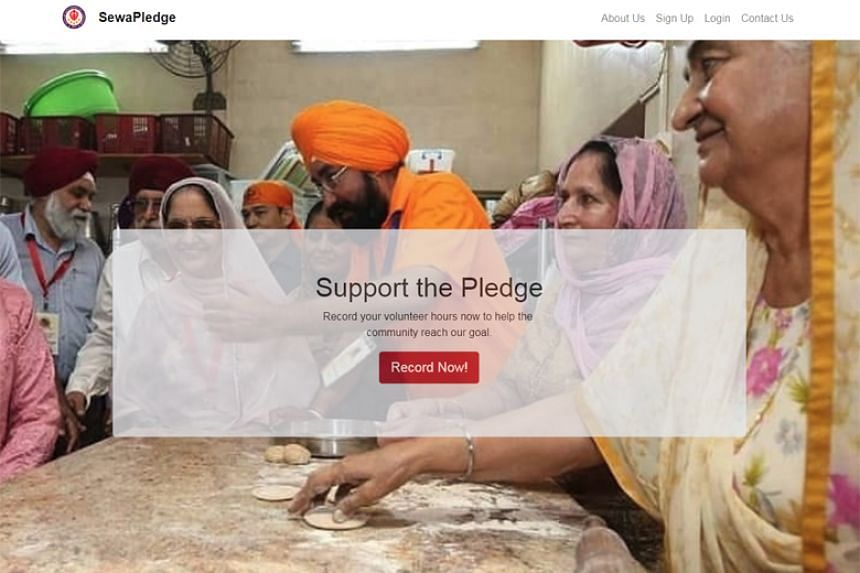 A website, SewaPledge.org, was launched last week for members of the 12,000-strong community to log their activities.