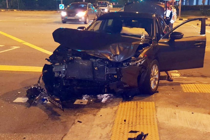Two women were injured after an accident in Yishun on Nov 28, 2018.