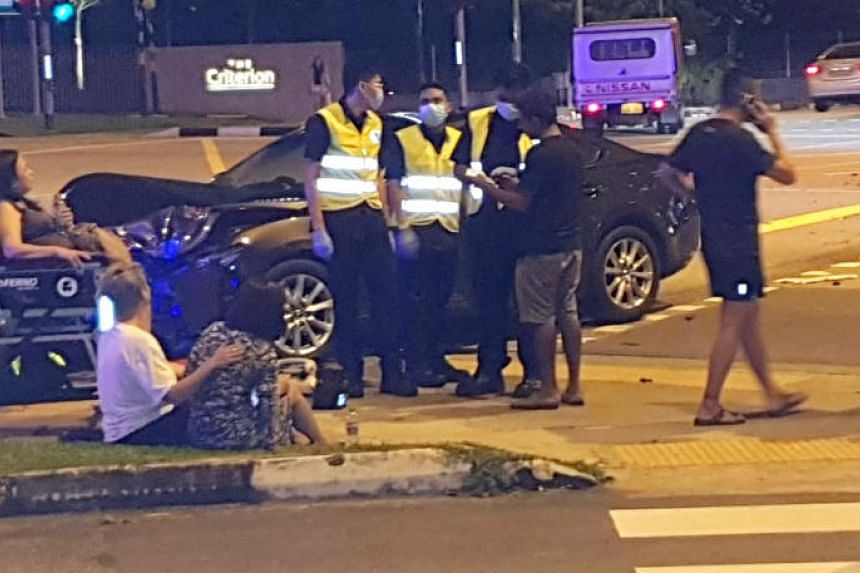 Both the 38-year-old driver and 58-year-old passenger were conscious when taken to hospital.