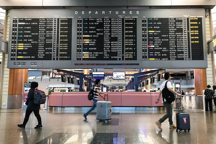 Changi Airport handled 5.38 million passengers last month. It also saw a 3.2 per cent rise in aircraft movements with 32,800 landings and take-offs.