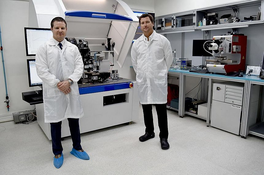 Mr Rich Hueners (left), Palomar's vice-president of global sales, and Mr Evan Hueners, the firm's product marketing manager. The Innovation Centre gives manufacturing firms access to, among other things, research and low-volume prototyping for the as