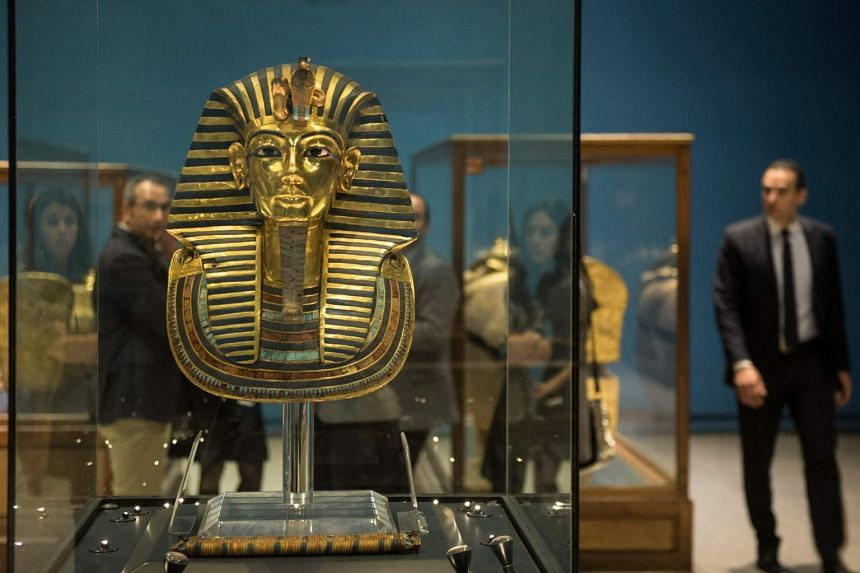 File photo of the Golden Mask of King Tutankhamun on display at Cairo's Egyptian Museum on Nov 28, 2017.