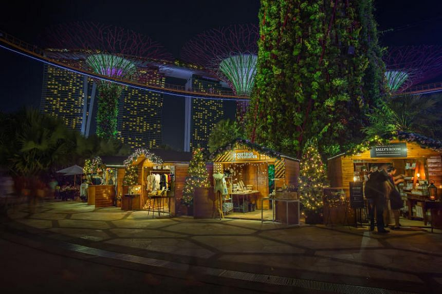 Gardens by the Bay will be lit up for Christmas Wonderland, a European-style yuletide festival.