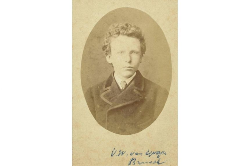 A black and white image of Theo Van Gogh, aged 15, Dutch painter Vincent Van Gogh's brother.