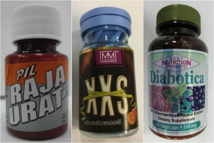 The Health Sciences Authority issued an alert on Pil Raja Urat Asli, XXS xtraxtrasmall and Best Nutrition Products Diabotica 500mg Capsules.