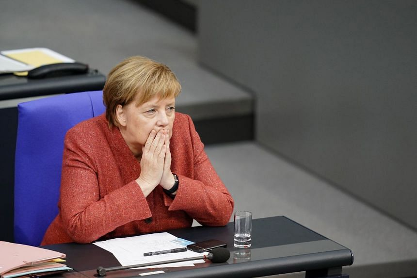According to tweets by German journalists on board the Airbus A340, German Chancellor Angela Merkel will leave for Madrid on Friday and head on a commercial flight for Buenos Aires with a slimmed down delegation.