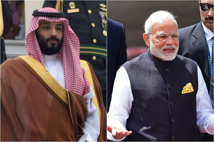 Saudi Crown Prince Mohammed bin Salman met Indian Prime Minister Narendra Modi in the prince's residence in Buenos Aires and discussed Saudi Arabia's readiness to supply India with oil and petroleum products.