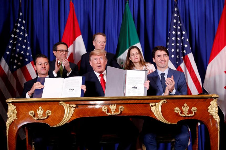 Legislators from the three countries still have to approve the the United States-Mexico-Canada Agreement before it goes into effect and replaces the North American Free Trade Agreement.