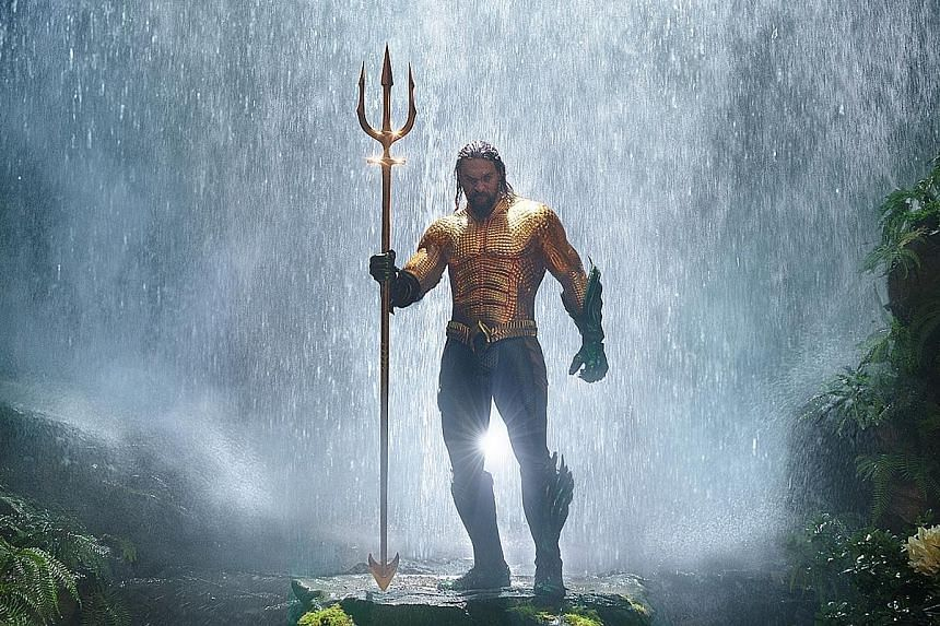 Jason Momoa (above) stars as Aquaman, the story of half-human, half-Atlantean Arthur Curry and his journey to discover if he is worthy to be king.