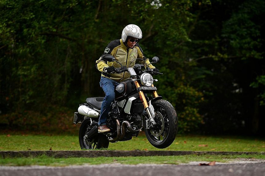The 1,079cc Ducati Scrambler 1100 Sport is an upgrade from its 803cc Scrambler sibling - it has more power, better handling and sophisticated electronic aids, such as an anti-lock braking system.