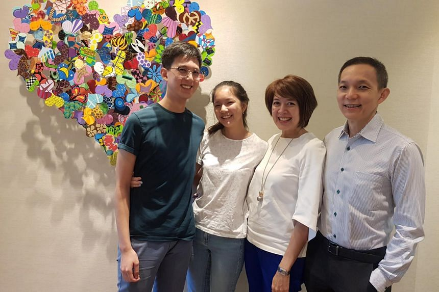 The Lim family (shown with two of their four children) have been volunteering in Cambodia with a humanitarian group since 2009. From left: Mr Alexander Lim, 18; Ms Ariana Lim, 16; Ms Audrey Ruyters, 51 and Dr Lim Yeong Phang, 51.
