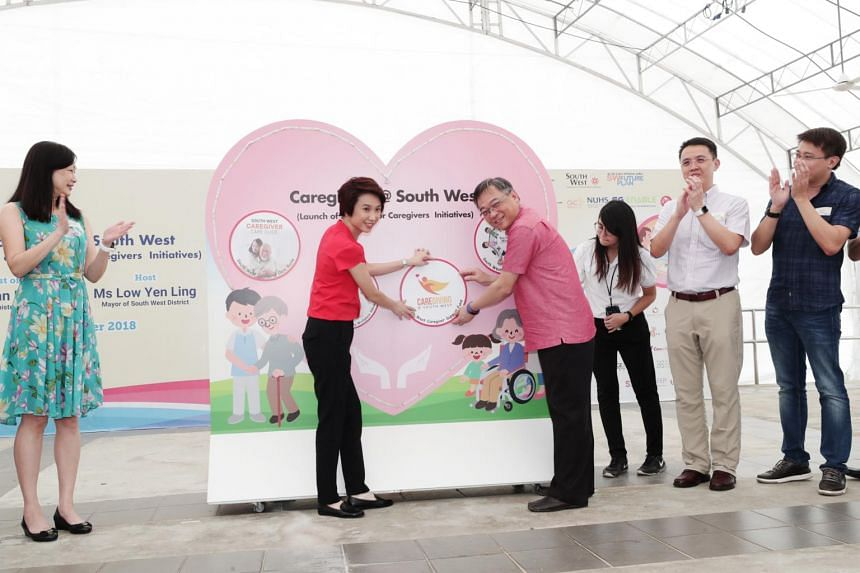South West District Mayor Low Yen Ling and Health Minister Gan Kim Yong launch phase two of a district-wide Caregiving @ South West programme on Dec 1, 2018.