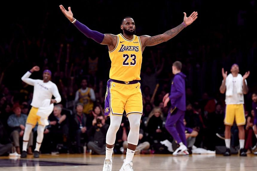 The four-time NBA Most Valuable Player's attacking abilities were on full display as he carried the Lakers to a victory on Nov 29.