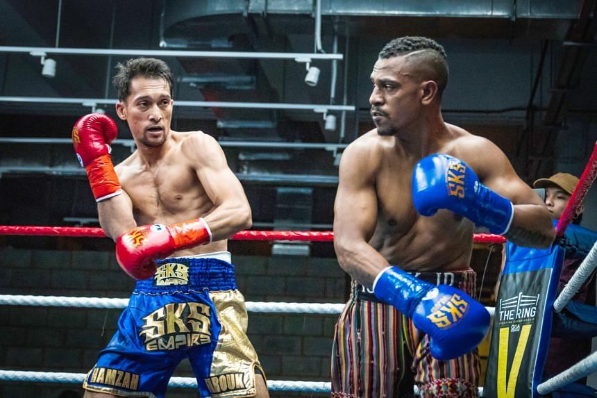 Hamzah Farouk beat Isack Junior by knock out to win the World Boxing Council's Asia Continental Super Featherweight title at The Ring Boxing Community.