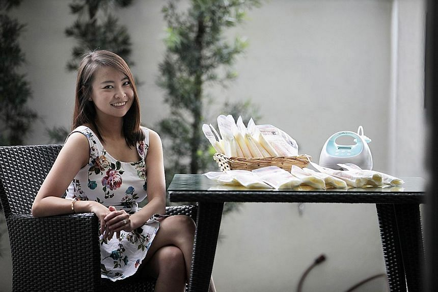 Madam Linette Lim is one of the top donors of breast milk to KKH's milk bank. She has produced enough milk for more than 20 babies as well as her 17-month-old son.