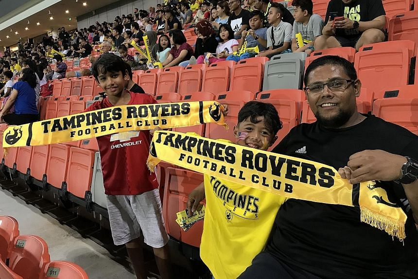 Geylang International (left), who have made Bedok Stadium their home since 1996, when the then S-League started, will move to Our Tampines Hub, which it will share with Tampines Rovers (right).