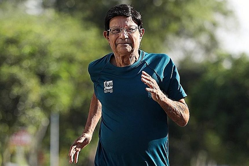 C. K. Murthy, who at 81 will be one of the oldest runners at the Standard Chartered Singapore Marathon 2018. Two years ago, he also scaled the 4,095m Mount Kinabalu.