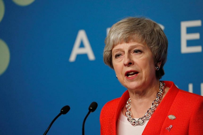 Britain's Prime Minister Theresa May addresses the media during the G-20 Leaders Summit in Buenos Aires, Argentina, on Dec 1, 2018.