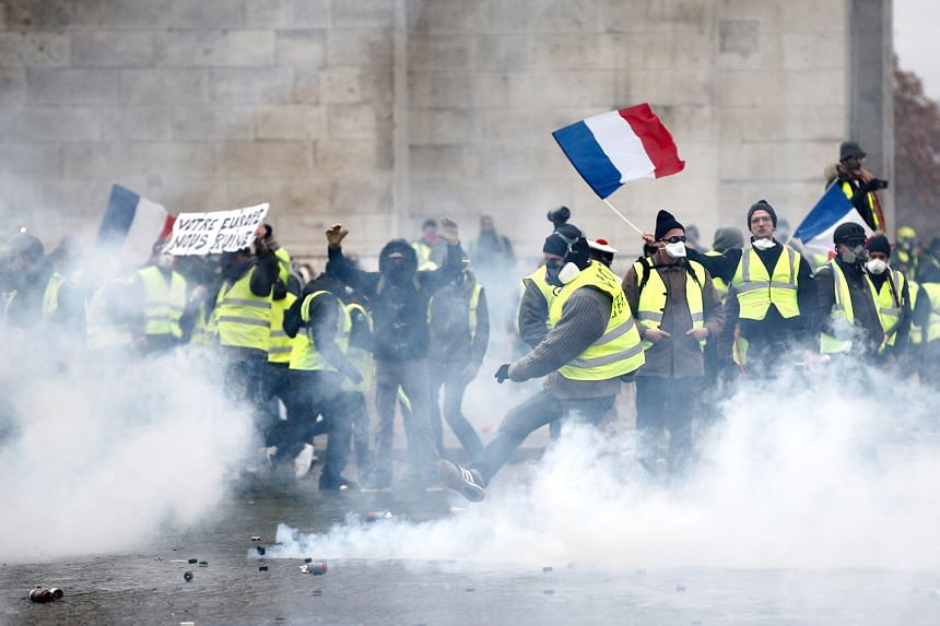 Image result for yellow vest protest