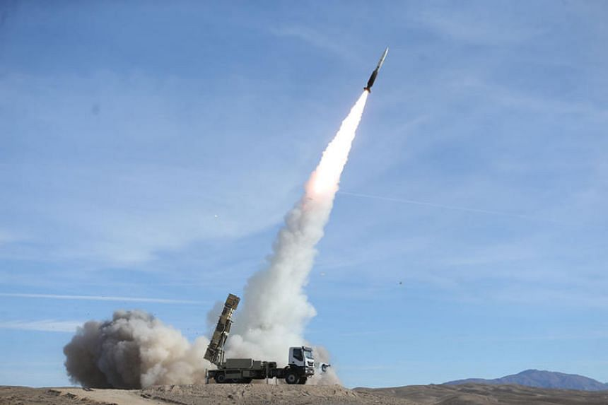 An Iranian Sayad missile being fired from a Talash system during an air defence drill on Nov 5, 2018. Iran on Dec 2 that its missile programme is defensive and not in breach of UN resolutions.